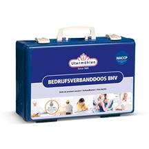 Bedrijfsverbanddoos BHV HACCP voorzien van letselgerichte modules