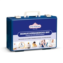 Bedrijfsverbanddoos BHV voorzien van letselgerichte modules