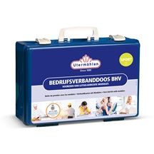 Bedrijfsverbanddoos BHV sport voorzien van letselgerichte modules